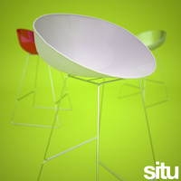 3d model contemporary designer stool