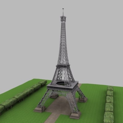 how to make eiffel tower model
