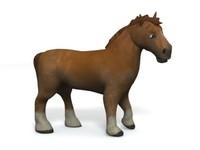 3d model horse character