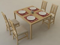 kitchen table 3d model