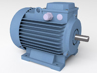 induction electric motor 3d model
