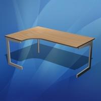 3d office desk corner model