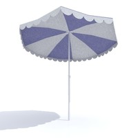 3d model umbrella sun parasol