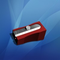 3d pencil sharpener model