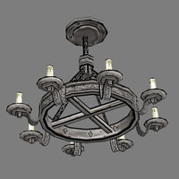 3ds max candelabras - furniture lights