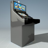3d model slot machine casino squares