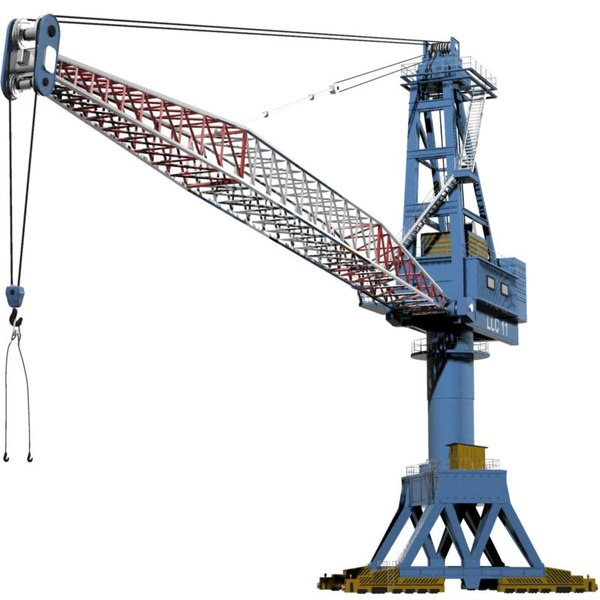 3d model crane wharf - Crane.Wharf Crane... by 3DLocker