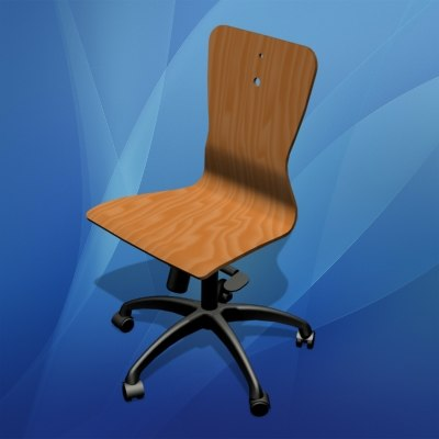 Wooden Office Chair preview1.jpg