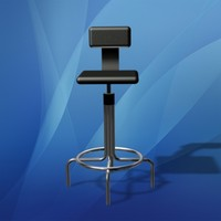 3ds max work bench chair office