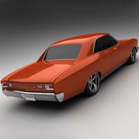 1966 chevrolet chevelle ss 3d model