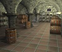 3d cellar bottles