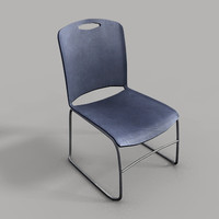3ds plastic chair