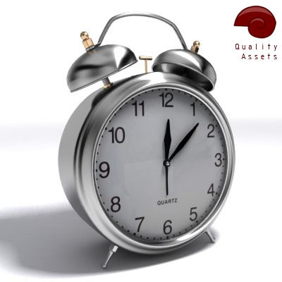 3d classic alarm clock model - alarm clock... by Snailhouse