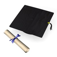 3ds graduation cap diploma