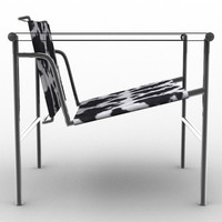 3d lwo lc1 chair le corbusier