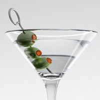 martini glass 3d model