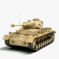 ww2 german tank panzer iv 3d model