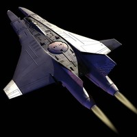 space interceptor 3d max