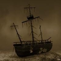 3d model wreck ship