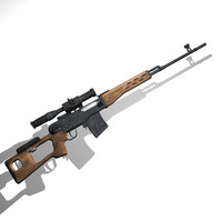 obj svd dragunov sniper rifle