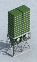industrial storage bin 3d model