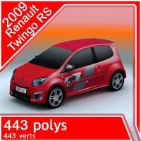 2009 renault twingo rs 3d model