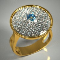 3d stone jewellery model