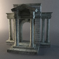 medieval stone entrance way 3d model
