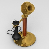 3ds antique candlestick telephone