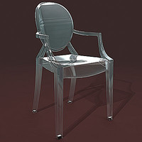 3d chair louis ghost model