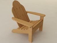 3ds max adirondack chair