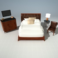 Bed and Night Stand