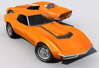 corvette c3 427 3d model