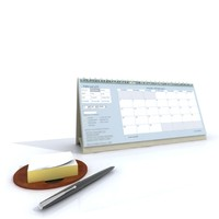 calendar and note pad