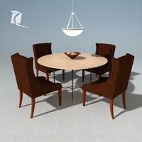 3d model dining room set kreiss