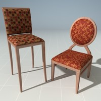 3d designer chairs model