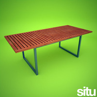 contemporary garden dining table 3ds