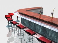 3d model lounge bar