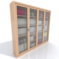 Office storage Cabinet with files