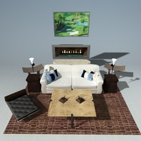 modern living room set max