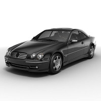 3d model mercedes-benz cl600