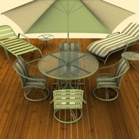 3d patio furniture model