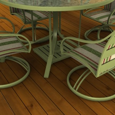 3d patio furniture model for Outdoor furniture 3d model