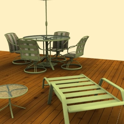 3d patio furniture model. Black Bedroom Furniture Sets. Home Design Ideas