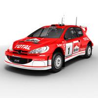 Peugeot 206 WRC rallycar