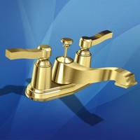 polished brass faucet 3d max