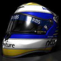 3d model of nico rosberg helmet 2008