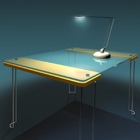 3d glass table desk lamp