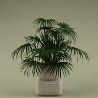 3d 3ds plant flowerpot