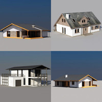 modern house 3d 3ds